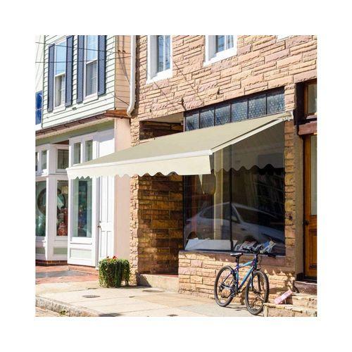 COSTWAY Markise »Balkonmarkise, Sonnenmarkise, Terrassenmarkise« mit kurbel, Sonnenschutz, 3 x 2,5 m, weiß