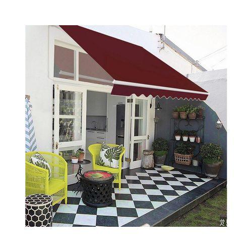 COSTWAY Markise »Balkonmarkise, Sonnenmarkise, Terrassenmarkise« mit kurbel, Sonnenschutz, 2,5 x 2 m, rot
