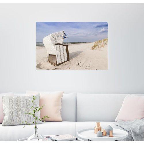 Posterlounge Wandbild, Strandkorb an der Ostsee