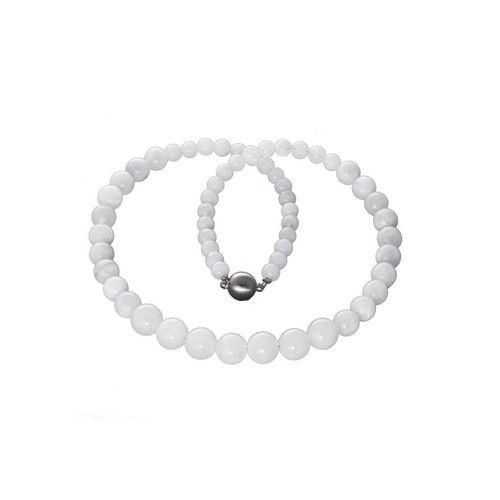 Bella Carina Perlenkette »Kette mit echten Mondstein Perlen«, Mondstein Kette, weiß