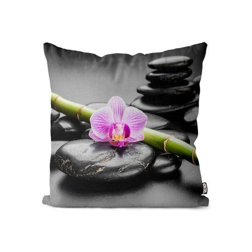 Kissenbezug, VOID (1 Stück), Zen Steine Orchideen Spa Kissenbezug Zen Steine Orchideen Spa Wellness Orchidee