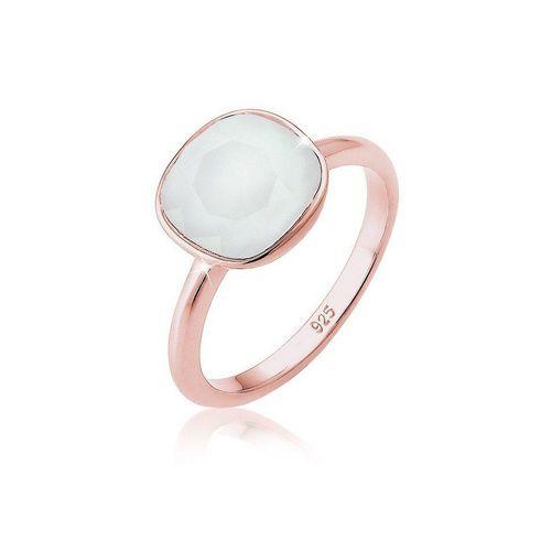 Elli Fingerring »Kristalle 925 Silber Geschenkidee«, Edelstein Ring, grau