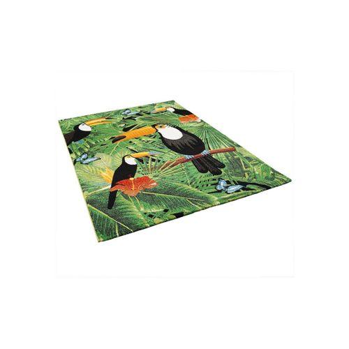 Designteppich »Designer Teppich Faro Tropical Tukan«, Pergamon, Rechteckig, Höhe 11 mm