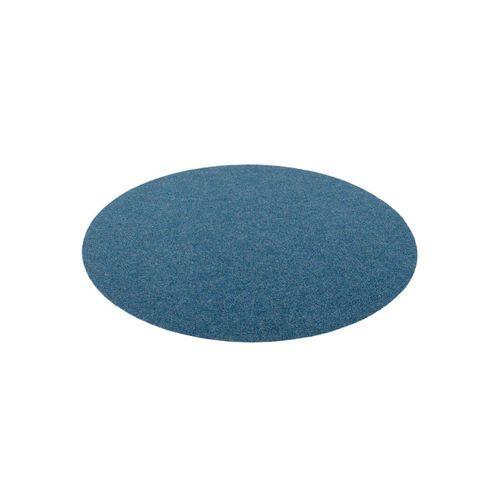 Rasenteppich »Kunstrasen Rasenteppich mit Noppen Kingston Rund«, Snapstyle, Rund, Höhe 7 mm, blau