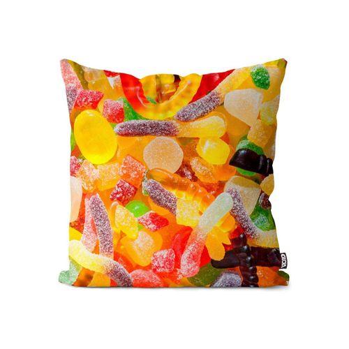 Kissenbezug, VOID (1 Stück), Süßigkeiten Gummibärchen Kissenbezug Süßigkeiten Gummibärchen Essen Kochen Kind