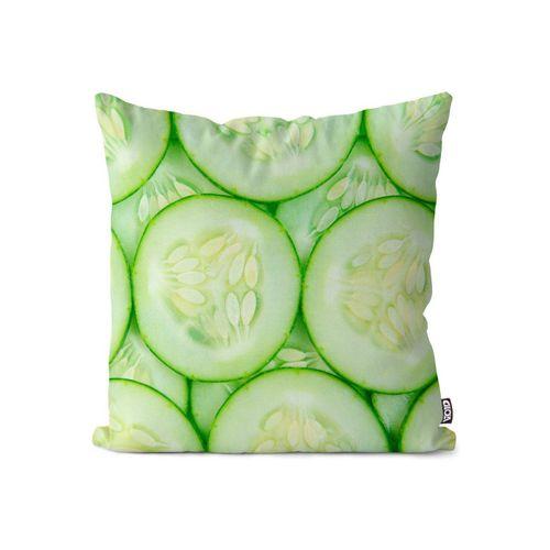 Kissenbezug, VOID (1 Stück), Gurken Gemüse Kochen Kissenbezug Gurken Gemüse Kochen Salat Küche Salatgurke Gr