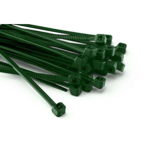 HaGa Kabelbinder »100 Stück Kabelbinder 100mm x 2,5mm in grün« (100-St), grün