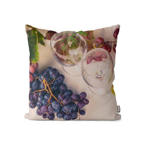 Kissenbezug, VOID (1 Stück), Weintrauben Trauben Wein Kissenbezug Weintrauben Trauben Wein Trinken Weinanbau