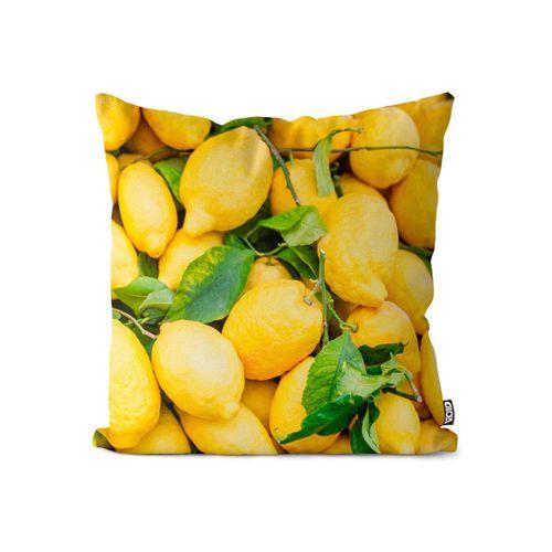 Kissenbezug, VOID (1 Stück), Zitronen Obst Italien Kissenbezug Zitronen Obst Italien Zitrusfrüchte Frucht Ur