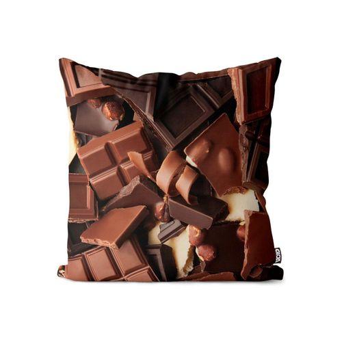 Kissenbezug, VOID (1 Stück), Schokolade Süßwaren Schoko Kissenbezug Schokolade Süßwaren Schoko Nüße Weihnach, bunt