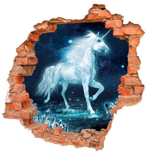 DesFoli Wandtattoo »Einhorn Fantasy Kristalle B0719«
