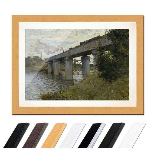 Bilderdepot24 Wandbild, Die Eisenbahnbrücke von Argenteuil
