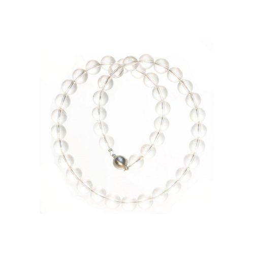 Bella Carina Perlenkette »Bergkristall 10 mm«, echter Bergkristall, weiß