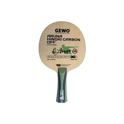 Gewo Tischtennisschläger »GEWO Holz Aruna Hinoki Carbon OFF«