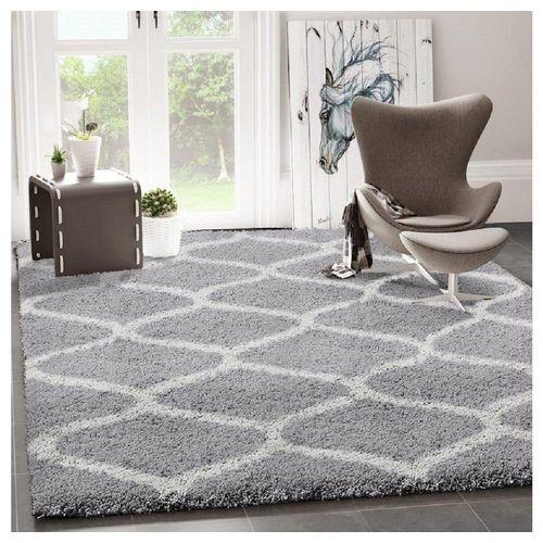 Teppich »Ein kuscheliger Hochflor Shaggy Teppich mit Maschen Muster«, Vimoda