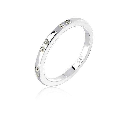 Elli Fingerring »Kristalle 925 Sterling Silber«, Kristall Ring