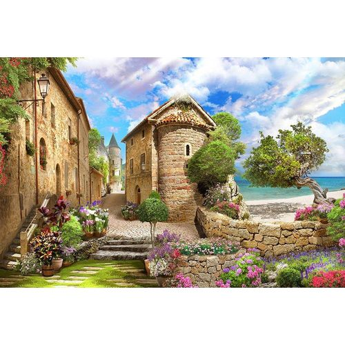 DesFoli Poster »Mediterranes Dorf Strand P2598«