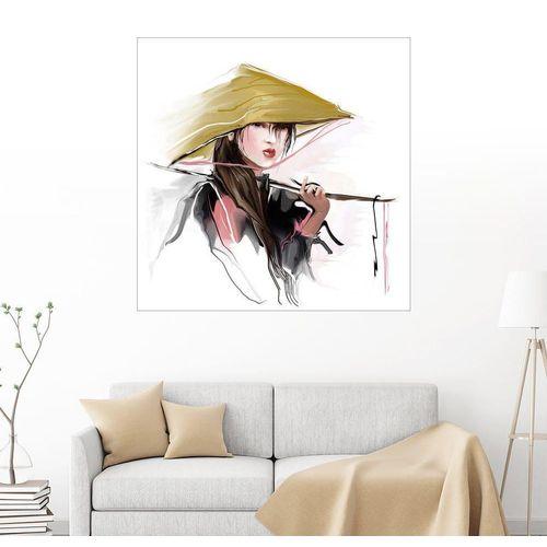 Posterlounge Wandbild, Asiatische Fischerin