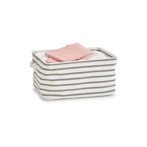 HTI-Living Aufbewahrungsbox »Aufbewahrungskorb Stripes«, Aufbewahrungskorb, grau