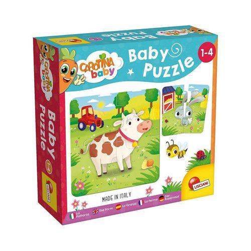 Lisciani Steckpuzzle »Carotina Baby - Puzzle Der Bauernhof«, Puzzleteile