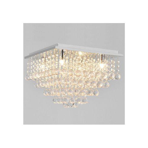lux.pro Deckenleuchte, »Veli Prisma« Kronleuchter mit Kunstkristallen - 4xG9