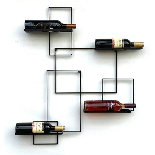 DanDiBo Weinregal »DanDiBo Weinregal Metall Schwarz Black Line Flaschenständer Flaschenregal Flaschenhalter Wandregal«