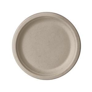 Papstar Pure Teller Zuckerrohr, ungeteilt, natur, Stabiles Einweg-Geschirr aus Zuckerrohr, 1 Packung = 50 Stück, Ø 18 cm