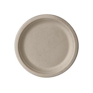 Papstar Pure Teller Zuckerrohr, ungeteilt, natur, Stabiles Einweg-Geschirr aus Zuckerrohr, 1 Packung = 50 Stück, Ø 15 cm