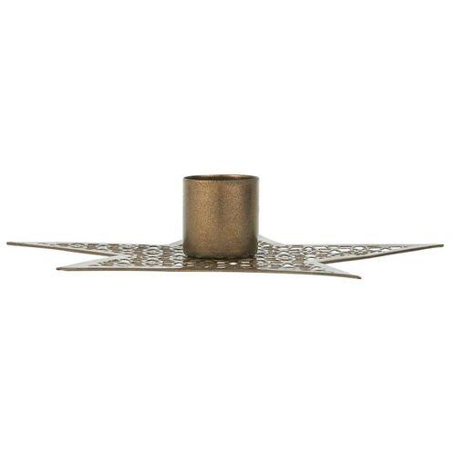 Ib Laursen Kerzenhalter »IB Laursen Kerzenhalter STERN Gold 13,5 cm«