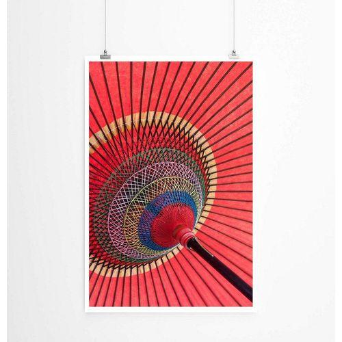 Sinus Art Poster »Künstlerische Fotografie  Asiatischer roter Sonnenschirm 60x90cm Poster«