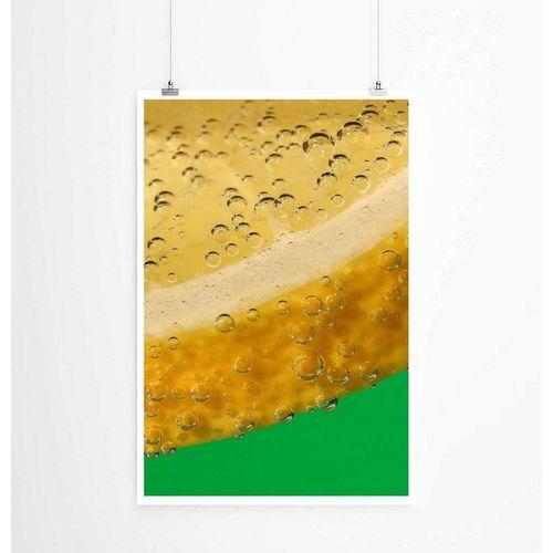 Sinus Art Poster »60x90cm Künstlerische Fotografie Poster Wassertropfen auf Zitronenschale«