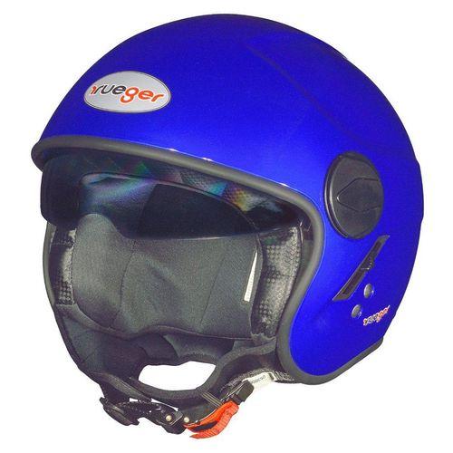 rueger-helmets Motorradhelm »RF-693 Jethelm Motorradhelm Jet Motorrad Roller Bobber Helm ruegerRF-693 Dark Blue XL«, blau