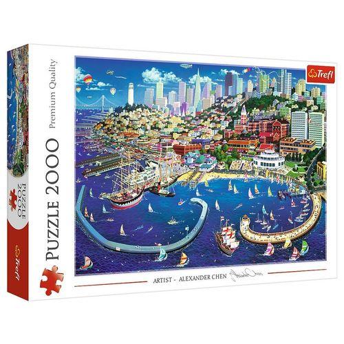 Trefl Puzzle »Bucht von San Francisco 2000 Teile Puzzle