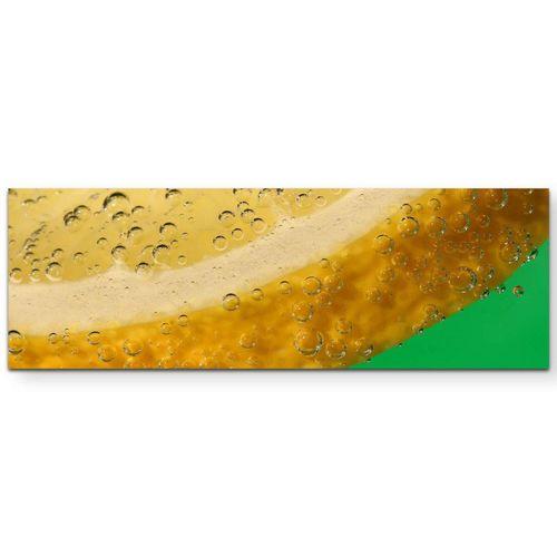 Sinus Art Leinwandbild »Fotografie  Zitronenscheibe + grüner Hintergrund