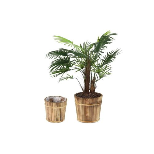 relaxdays Blumentopf »Holz Blumentopf im 2er Set