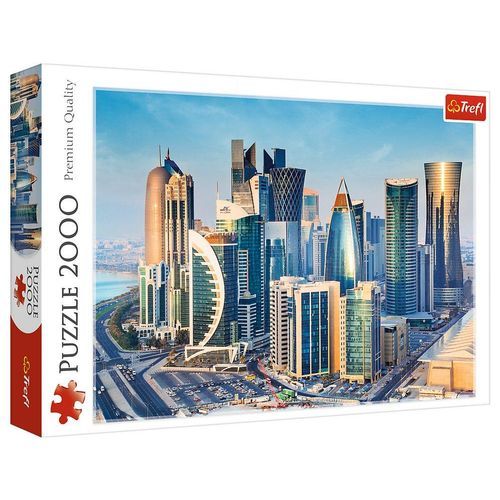 Trefl Puzzle »Trefl 27084 Doha, Katar 2000 Teile Puzzle«, Puzzleteile, bunt
