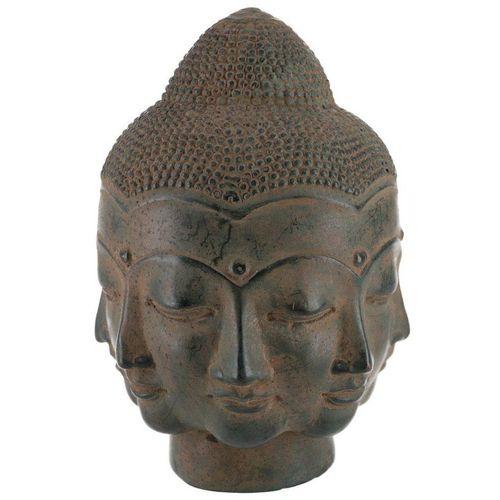 Guru-Shop Buddhafigur »Buddha Kopf, Buddha Büste, viele Gesichter 16..«