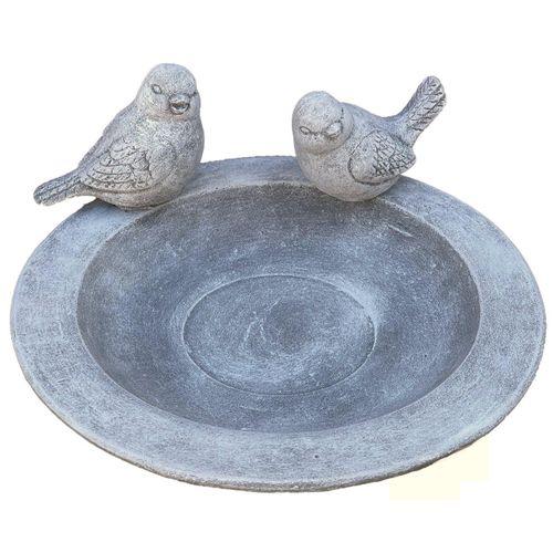 Stone and Style Vogeltränke »Vogeltränke Teller 2 Vögel Vogel Steckbar Steinguss frostfest«