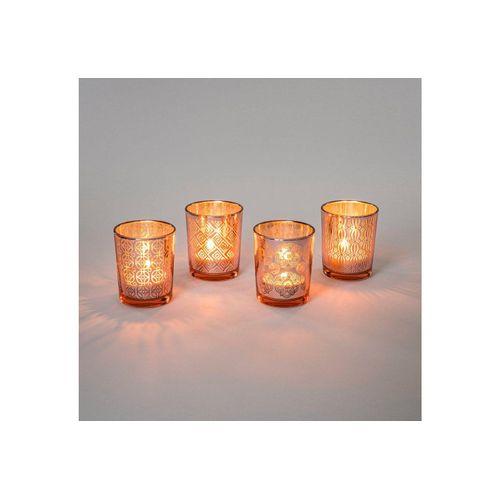 Flanacom Teelichthalter »Orientalische Kerzengläser Glas - Ornament-Design« (4er Set), orientalisches Design