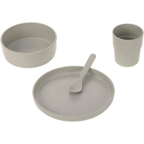 LÄSSIG Kindergeschirr-Set »Uni warm grey« (4-tlg), Polypropylen, Zellulose, grau