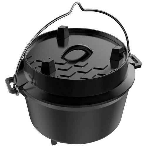 Tepro Grilltopf »Dutch Oven S«, Gusseisen, 4 Liter, schwarz