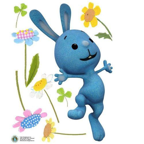 Wall-Art Wandtattoo »Kaninchen KiKANiNCHEN Blumen« (1 Stück), bunt