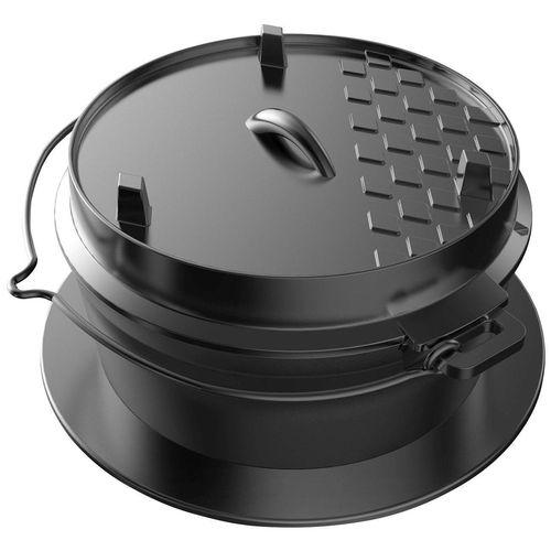 Tepro Grilltopf »Dutch-Oven-Einleger«, Gusseisen, ØxH: 32,5x18,4 cm, schwarz