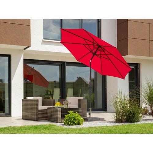 Schneider Schirme Sonnenschirm »Harlem«, ohne Schirmständer, rot