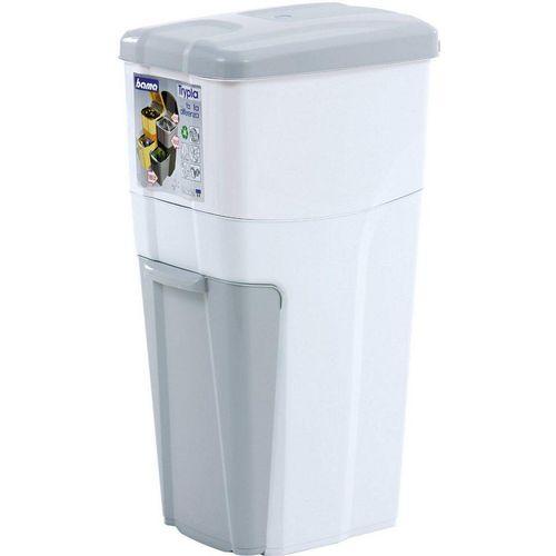Bischof Bama Mülltrennsystem »Trypla«, Dreifach-Mülltrennung, weiß