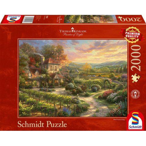 Schmidt Spiele Puzzle »In den Weinbergen«, 2000 Puzzleteile, Thomas Kinkade, bunt