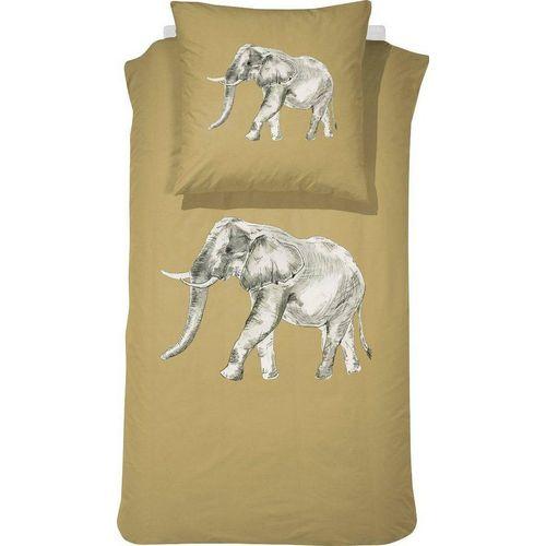 Kinderbettwäsche »Boone«, damai, mit Elefant, braun