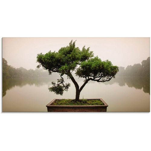 Artland Glasbild »Chinesischer Bonsaibaum«, Bäume (1 Stück), grün