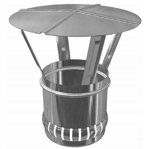 Zitec Ofenrohr, 150 mm, inkl. Regenhaube