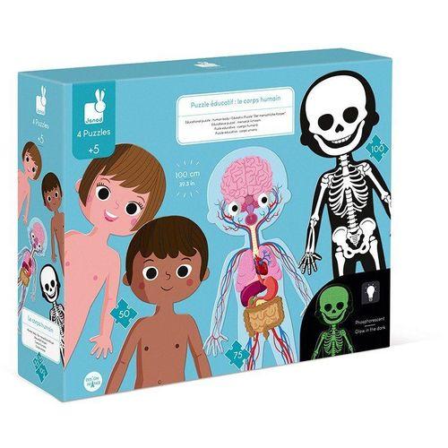 Janod Konturenpuzzle »Der menschliche Körper«, 225 Puzzleteile, bunt